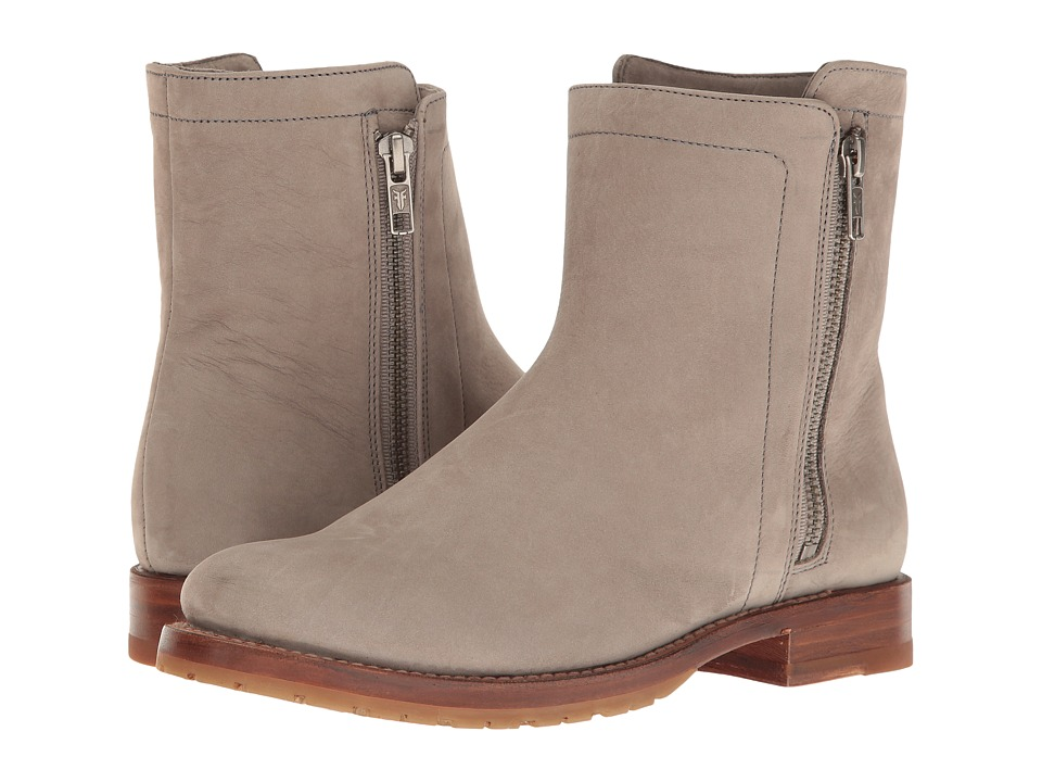 Frye Natalie Double Zip (Grey Soft Italian Nubuck) Women