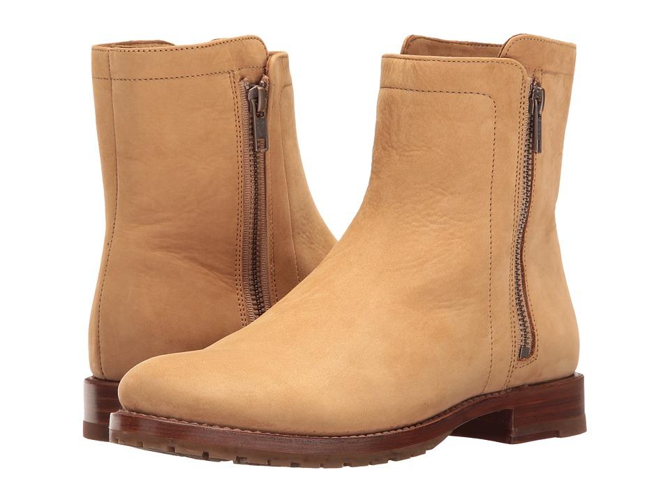 Frye - Natalie Double Zip (Sand Soft Italian Nubuck) Women's Boots