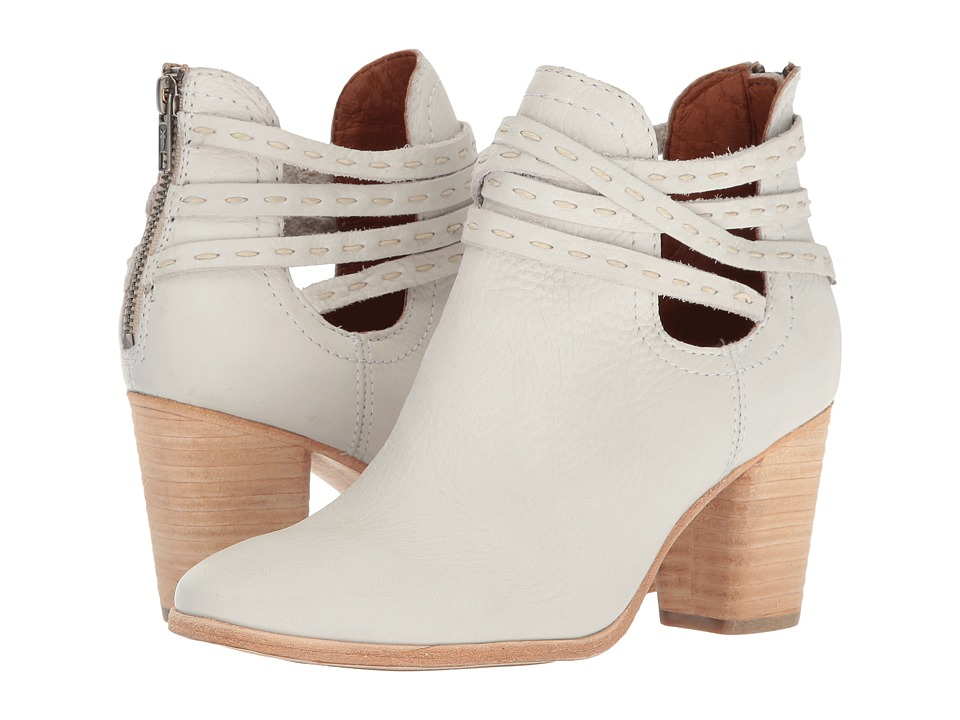 Frye Naomi Pickstitch Shootie (White Soft Vintage Bovine) Women
