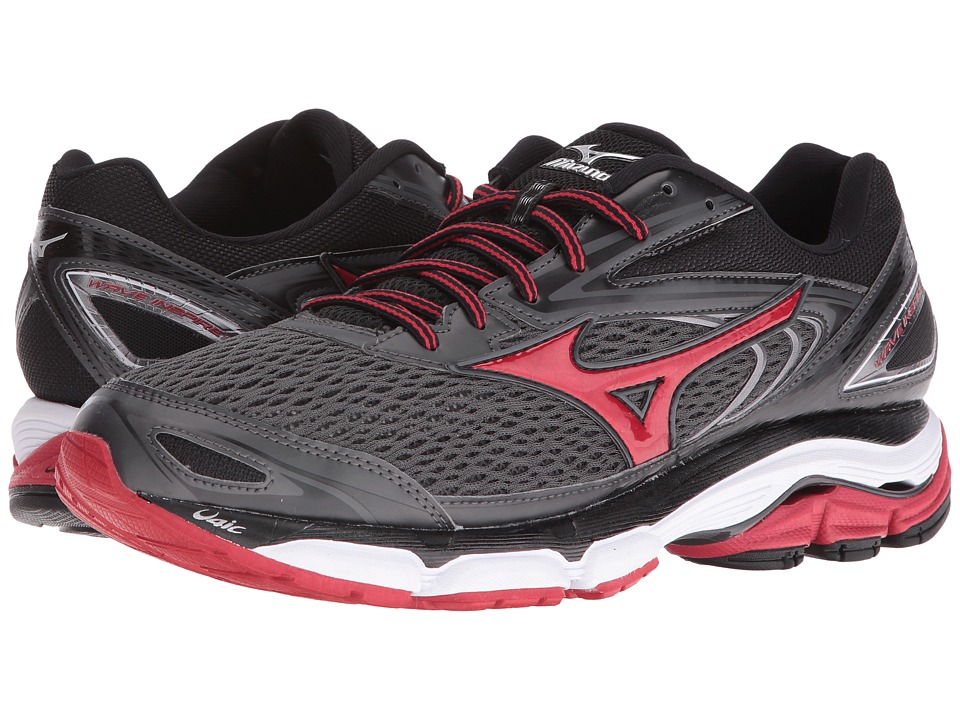 Mizuno Wave Inspire 13 (Dark Shadow/Chinese Red/Black) Men's Running Shoes
