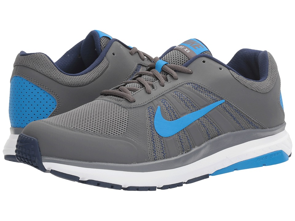 Nike - Dart 12 (Dark Grey/Photo Blue/Binary Blue) Men's Running Shoes