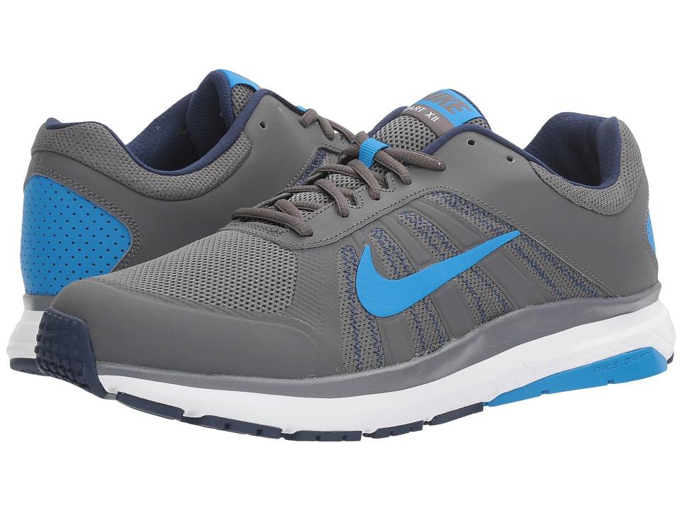 Nike - Dart 12 (Dark Grey/Photo Blue/Binary Blue) Men's Running Shoes
