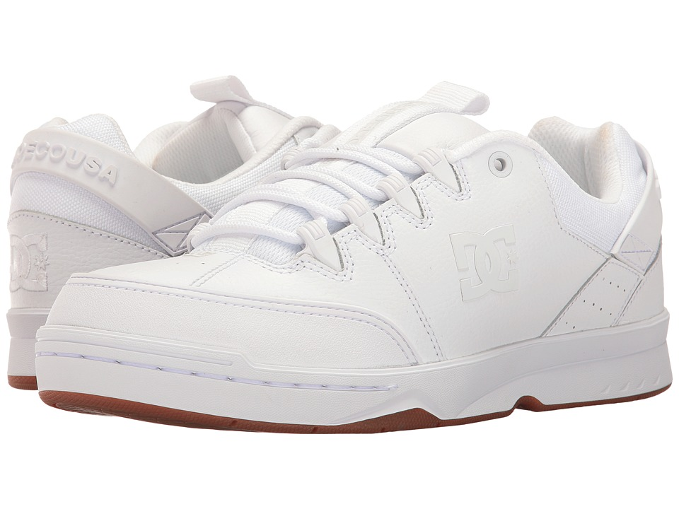 DC - Syntax (White/Gum) Men's Skate Shoes