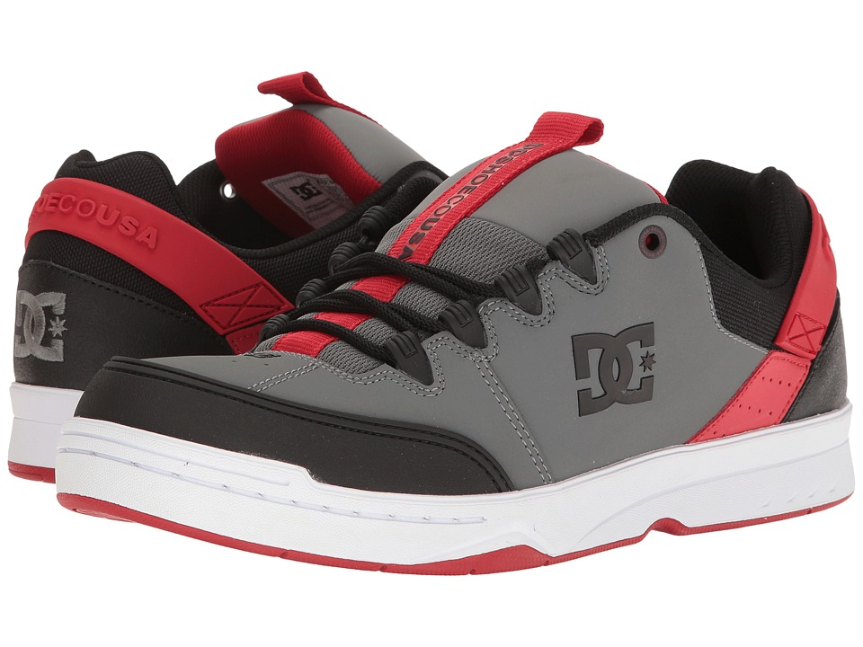 DC - Syntax (Grey/Black/Red) Men's Skate Shoes