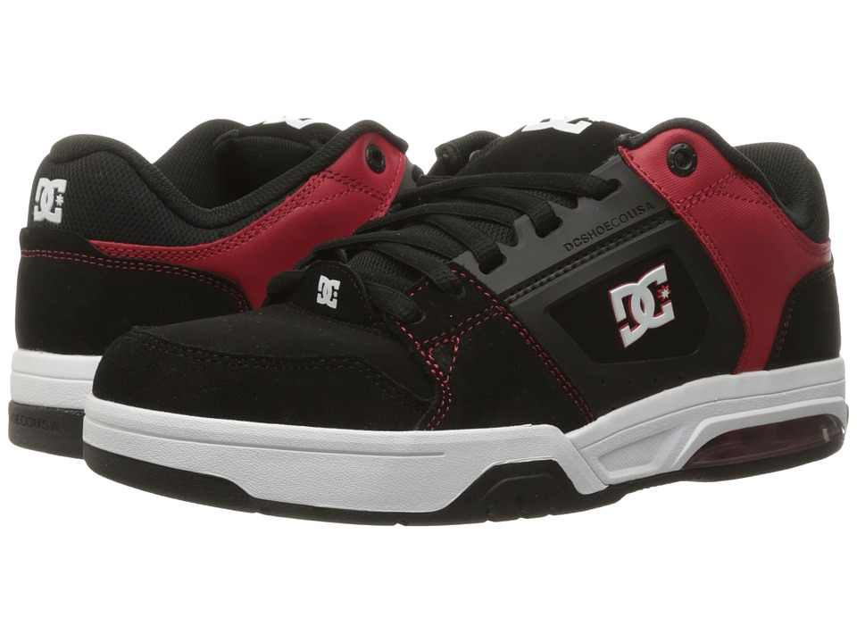 DC - Rival (Black/Red) Men's Skate Shoes