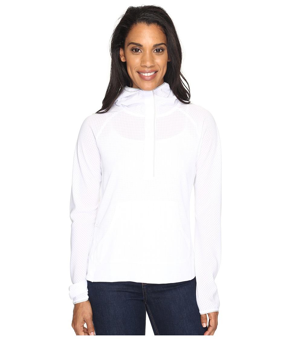 Mountain Hardwear - MHW AC Long Sleeve Hoodie (White) Women's Sweatshirt