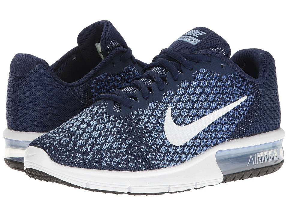 Nike - Air Max Sequent 2 (Binary Blue/White/Comet Blue/Aluminum) Women's Running Shoes