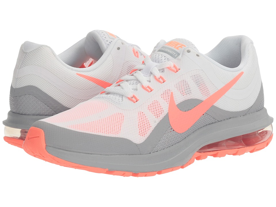 Nike - Air Max Dynasty 2 (White/Lava Glow/Wolf Grey) Women's Running Shoes