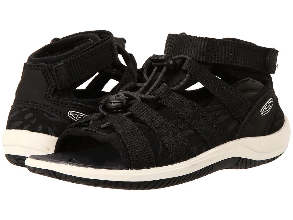 Keen Kids - Hadley (Toddler/Little Kid) (Black/White) Girl's Shoes