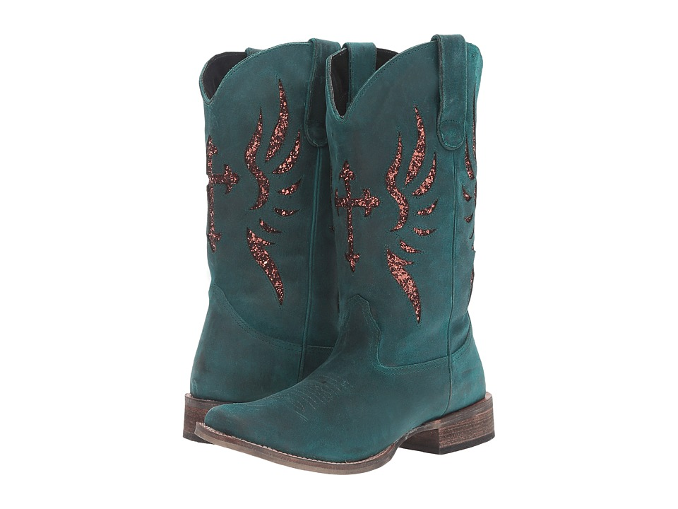 Roper - Glitter Wings (Turquoise/Bronze) Women's Boots