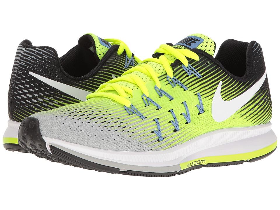 Nike - Air Zoom Pegasus 33 (Matte Silver/White/Volt/Black) Women's Running Shoes
