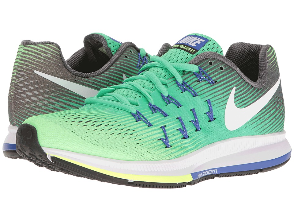 Nike - Air Zoom Pegasus 33 (Electro Green/White/Ghost Green) Women's Running Shoes