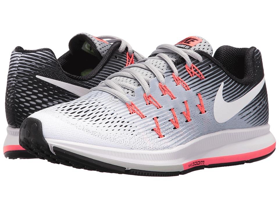 Nike - Air Zoom Pegasus 33 (Wolf Grey/White/Black/Hot Punch) Women's Running Shoes
