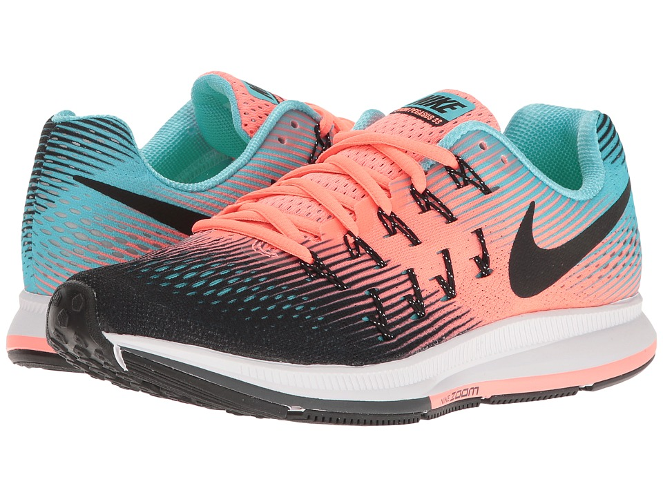 Nike - Air Zoom Pegasus 33 (Black/Black/Lava Glow/Polarized Blue) Women's Running Shoes