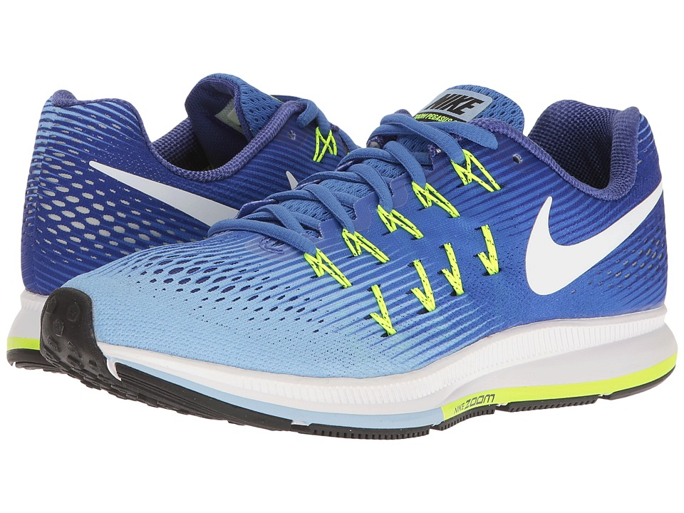 Nike - Air Zoom Pegasus 33 (Medium Blue/White/Aluminum/Deep Night) Women's Running Shoes