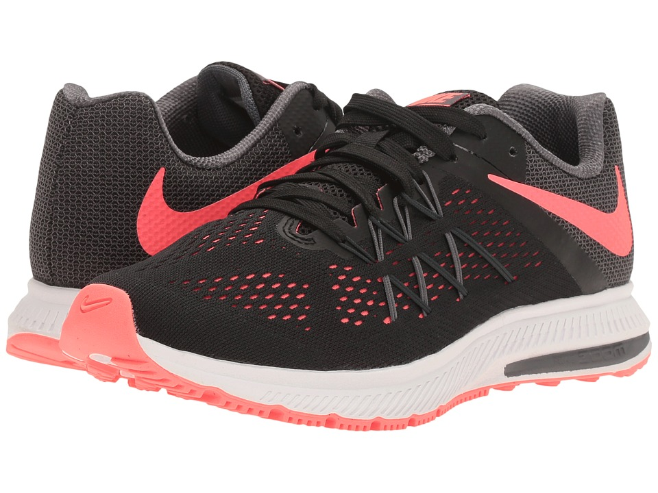 Nike Zoom Winflo 3 (Black/Hot Punch/Dark Grey/White) Women