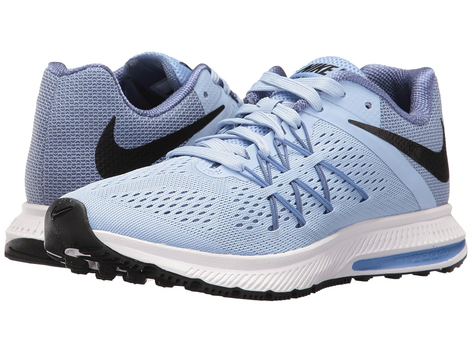 Nike - Zoom Winflo 3 (Aluminum/Black/Blue Moon/Polar) Women's Running Shoes