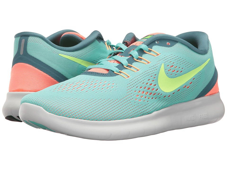 Nike - Free RN (Hyper Turquoise/Ghost Green/Lava Glow) Women's Running Shoes