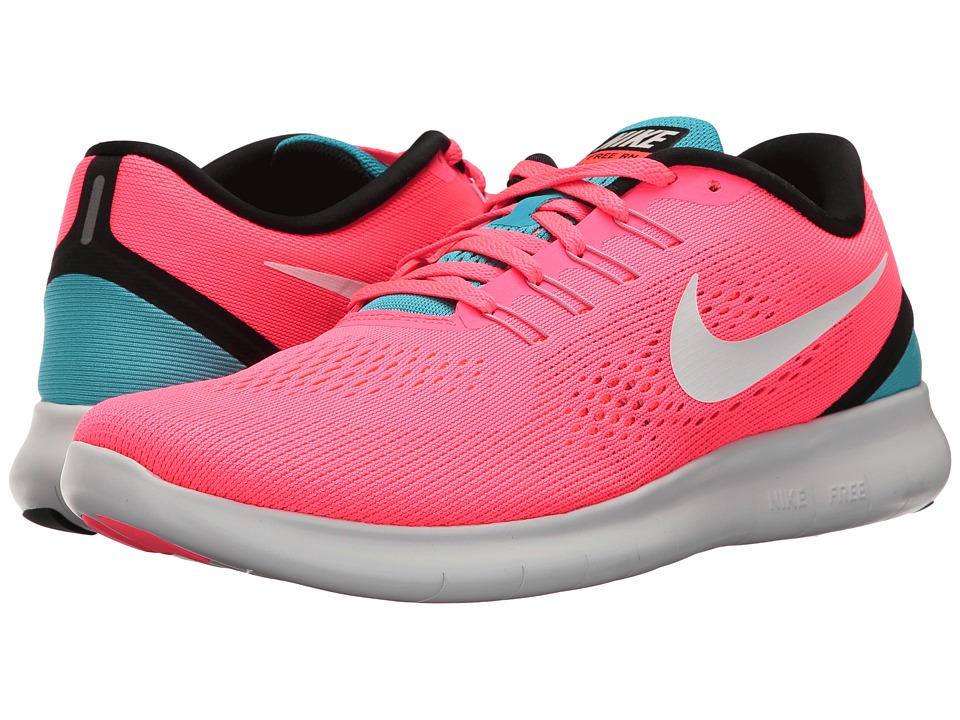 Nike - Free RN (Racer Pink/Off-White/Chlorine Blue/Black) Women's Running Shoes