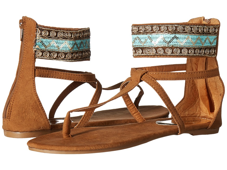 Roper - Callie (Tan/Turquoise) Women's Sandals