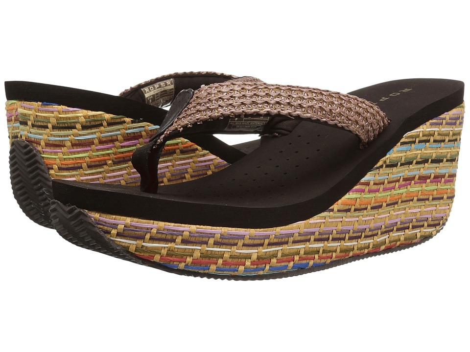 Roper - Shelly (Brown Multi) Women's Wedge Shoes