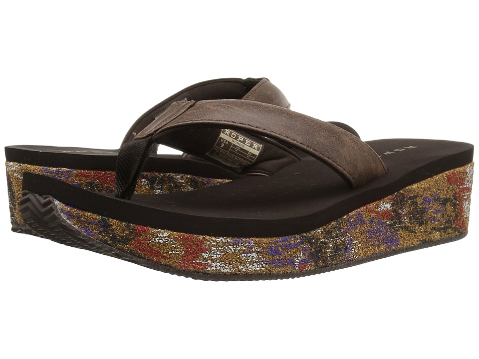 Roper - Splash (Brown Multi) Women's Wedge Shoes