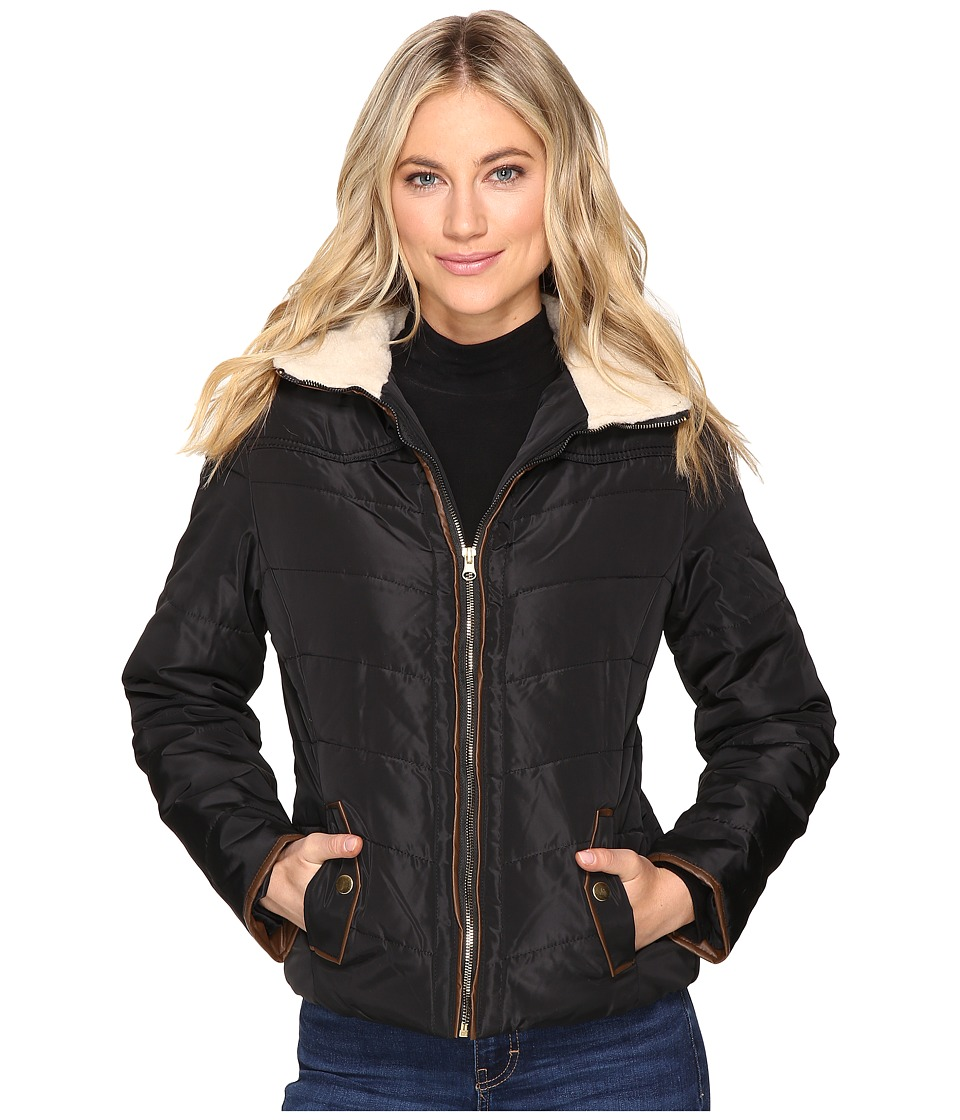Brigitte Bailey - Solo Jacket w/ Sherpa Lined Collar (Black) Women's Coat