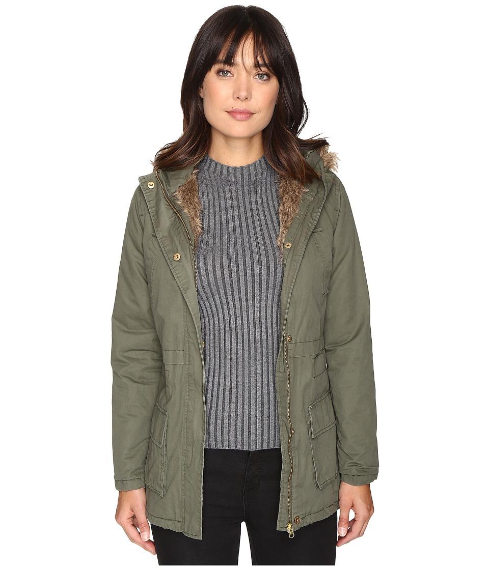 Brigitte Bailey - Seven Card Long Jacket (Olive) Women's Coat