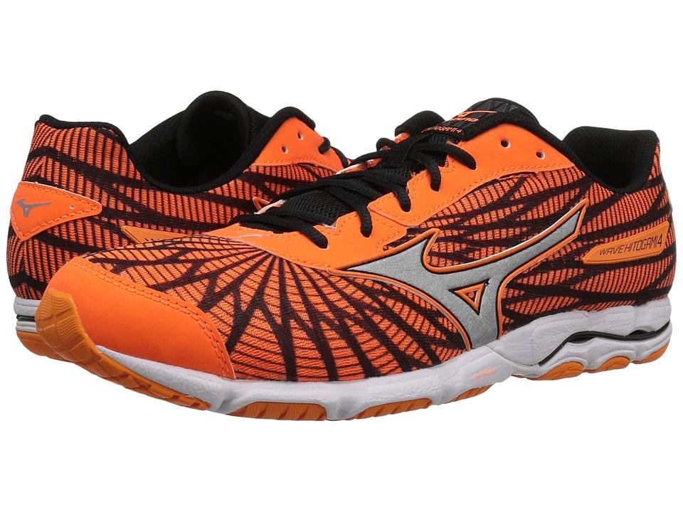 Mizuno - Wave Hitogami 4 (Clownfish/Black/White) Men's Running Shoes