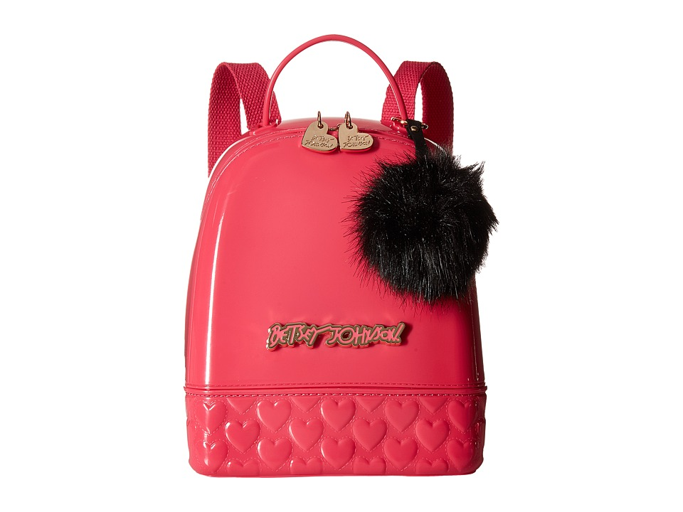 Betsey Johnson - Don't Be Jelly Mini Backpack (Fuchsia) Backpack Bags