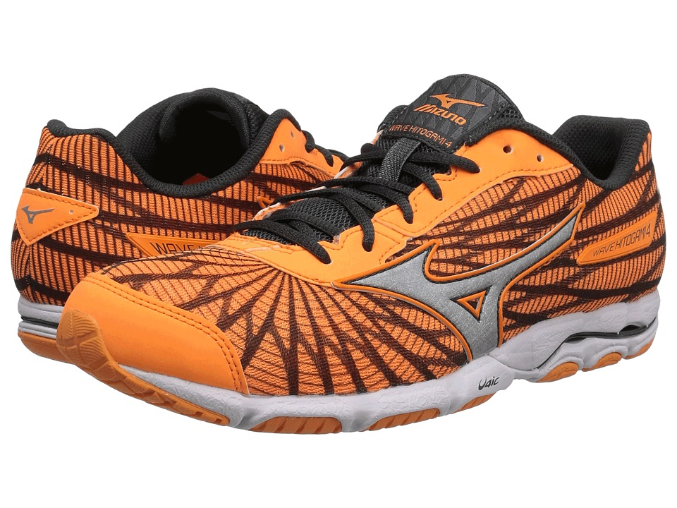 Mizuno - Wave Hitogami 4 (Orange Pop/Dark Shadow/White) Women's Running Shoes