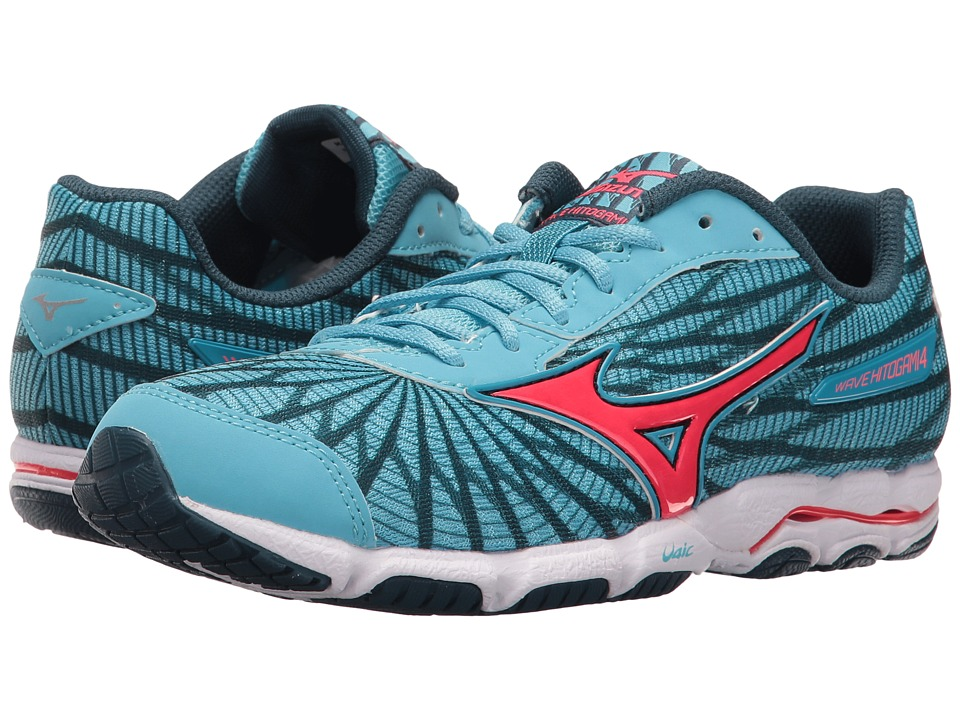 Mizuno - Wave Hitogami 4 (Norse Blue/Diva Pink/Majolica Blue) Women's Running Shoes