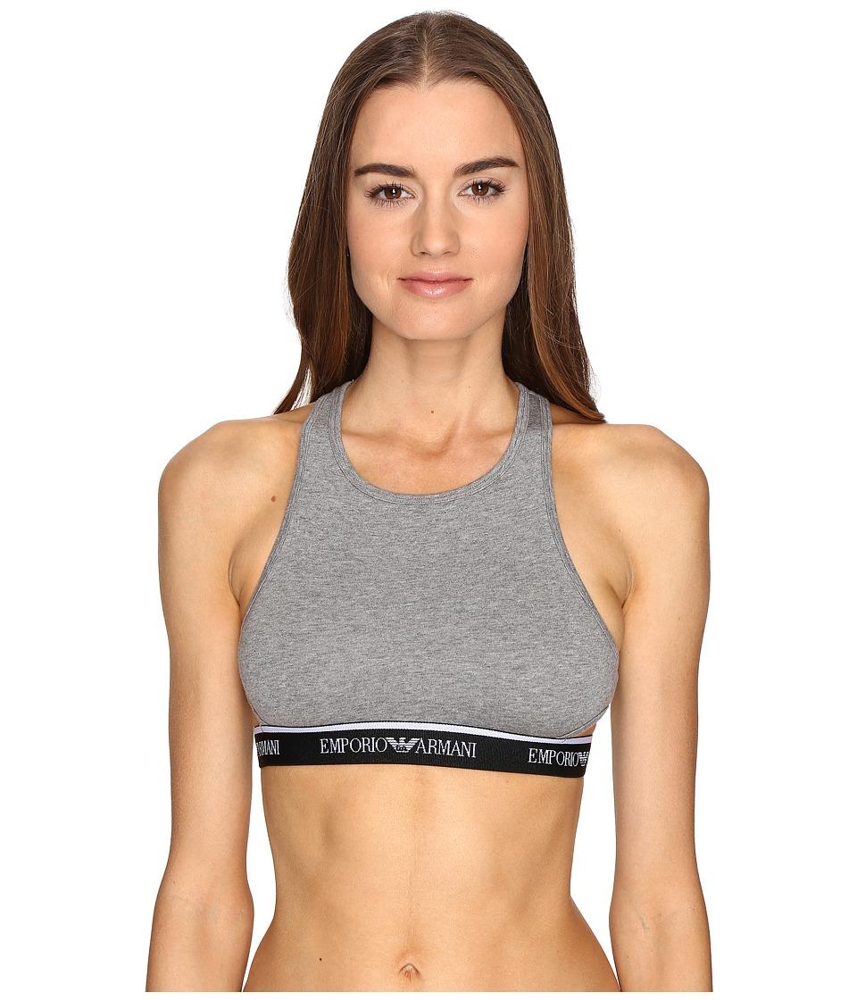 Emporio Armani - Visibility Stretch Bralette (Dark Grey Melange) Women's Bra
