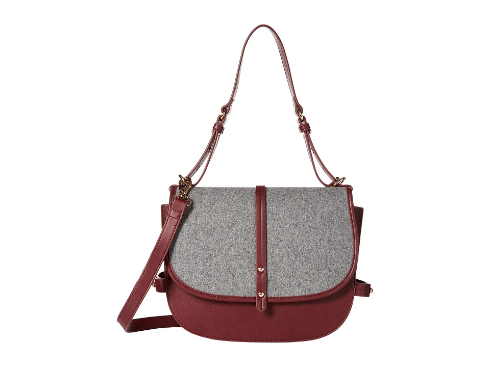 Steve Madden - Bmynes Saddle Bag (Berry) Handbags
