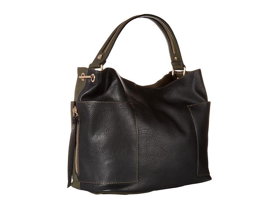 Steve Madden - Bkole Kolt Bucket Two-Tone (Black/Olive) Handbags