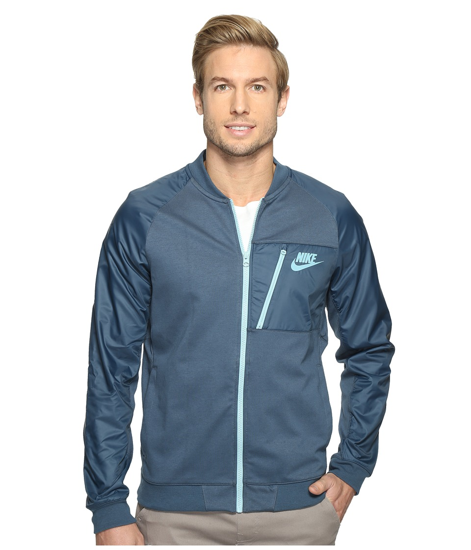 Nike - Sportswear Advance 15 Fleece Full-Zip Jacket (Squadron Blue/Mica Blue/Mica Blue) Men's Coat