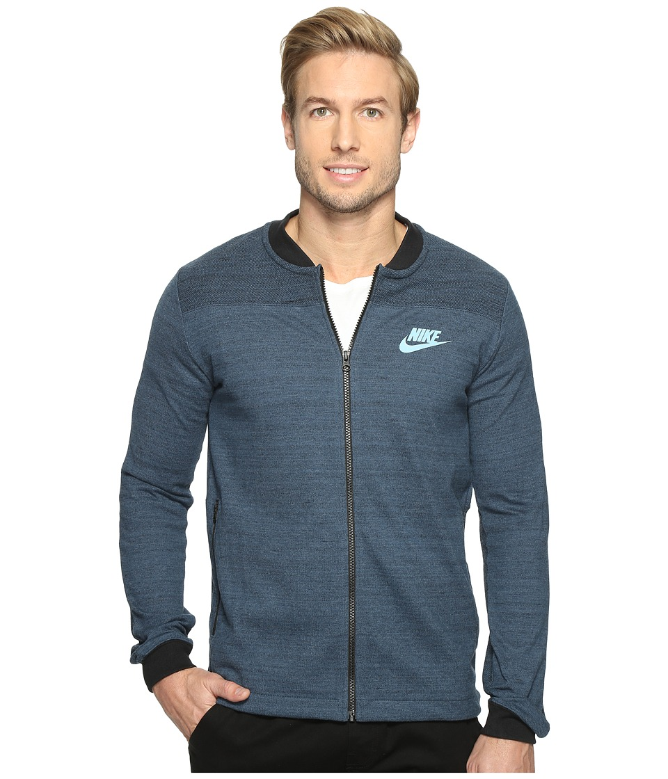 Nike - Sportswear Advance 15 Jacket (Squadron Blue/Heather/Mica Blue) Men's Coat