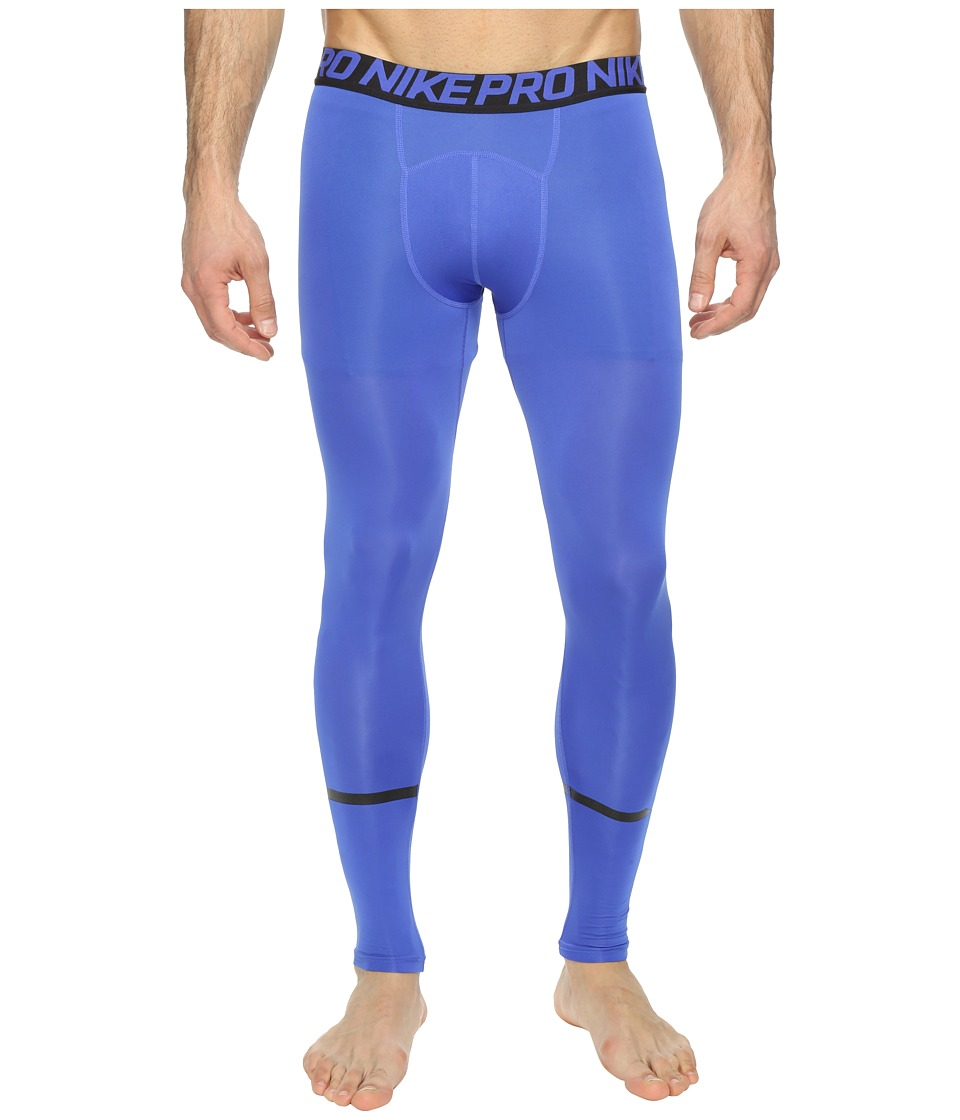 Nike - Pro Swoosh Compression Tight (Paramount Blue/Black) Men's Casual Pants