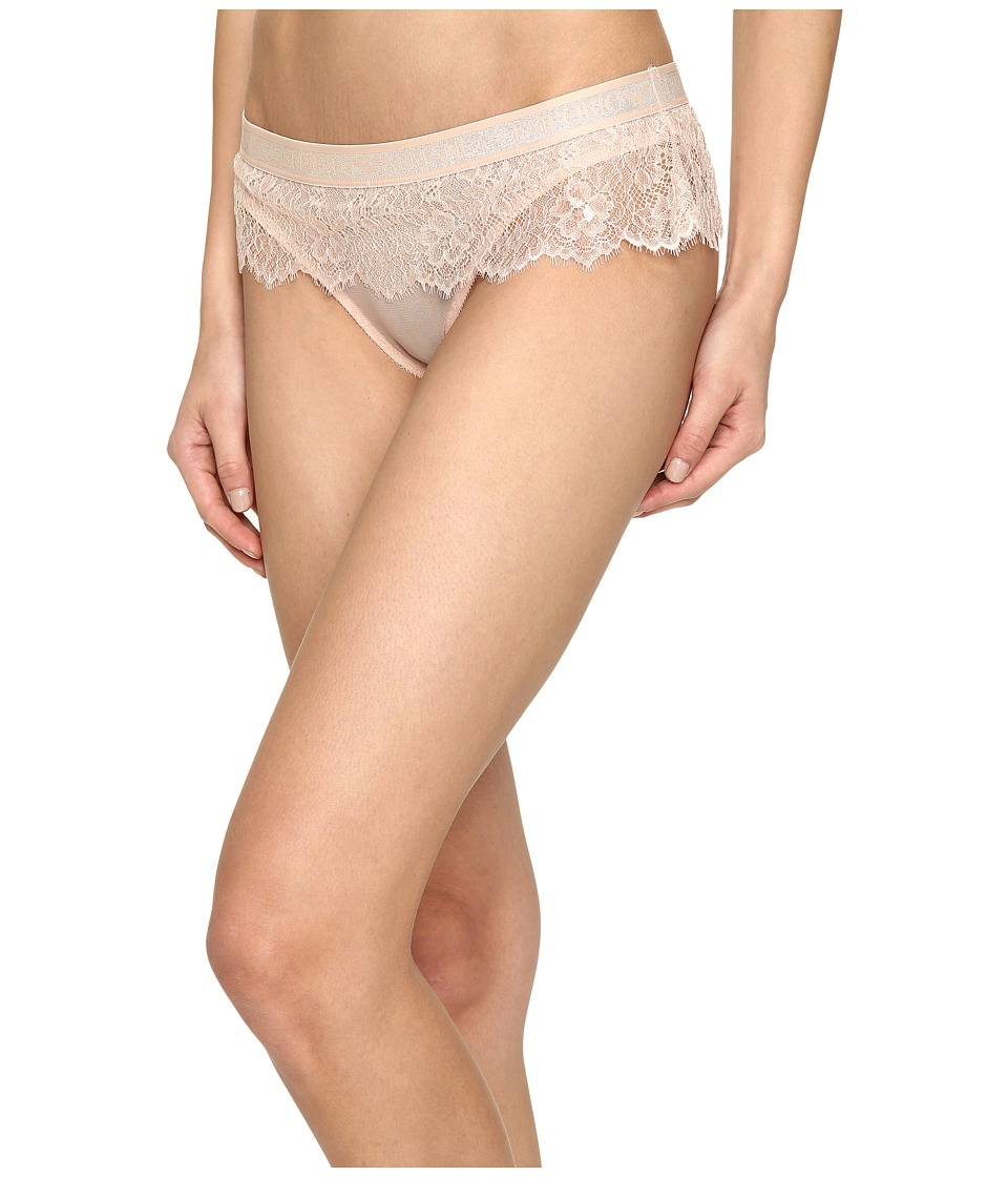 Emporio Armani - Visibility Lurex Lace Brief (Nude Pink) Women's Underwear