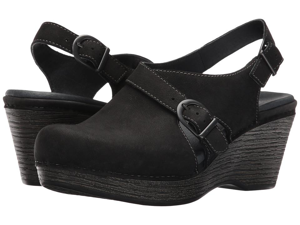 Dansko - Vinnie (Black Milled Nubuck) Women's Clog Shoes