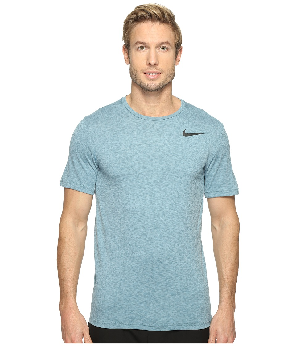 Nike - Breathe Short Sleeve Training Top (Mica Blue) Men's Clothing