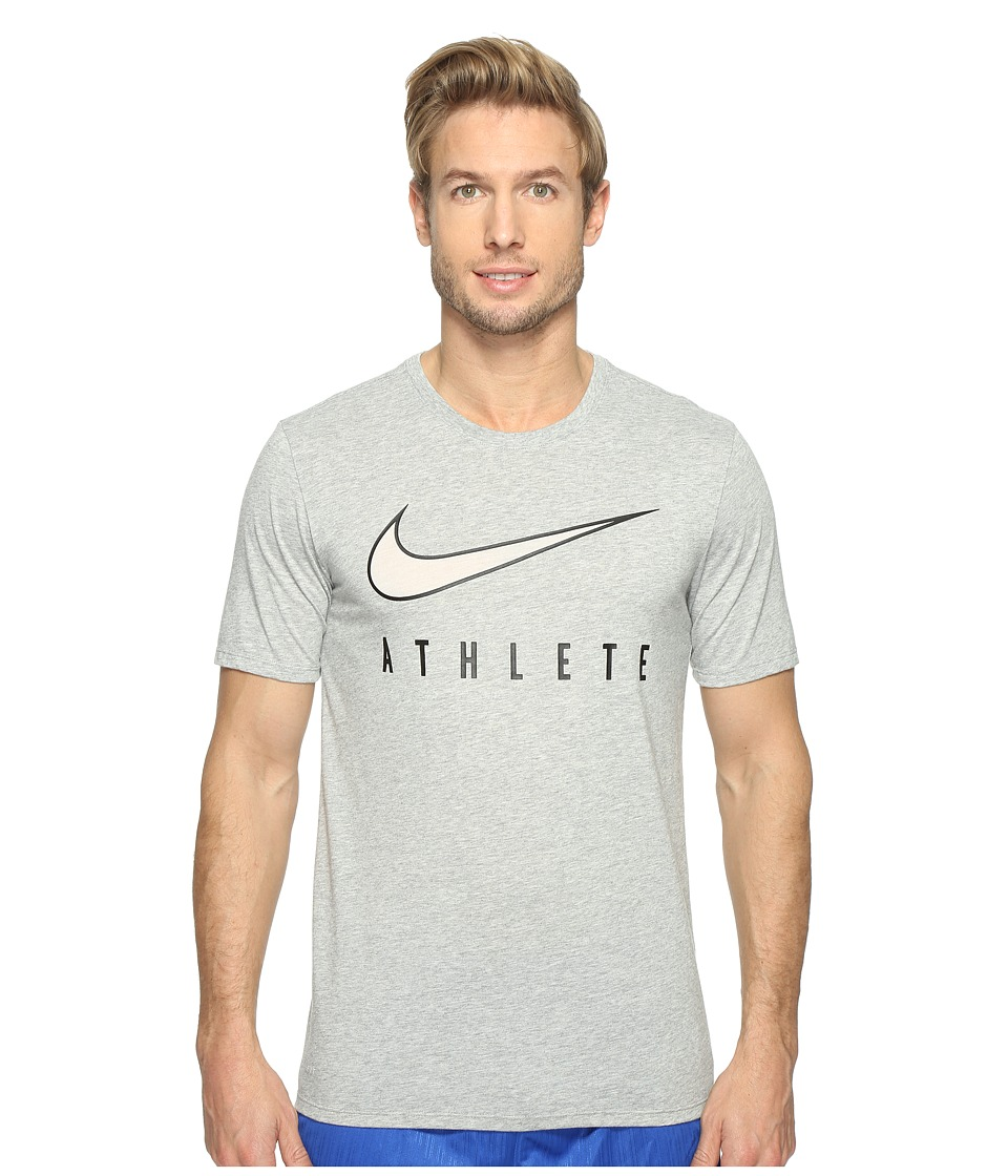 Nike Dry Athlete Training T-Shirt (Dark Grey Heather/Black) Men
