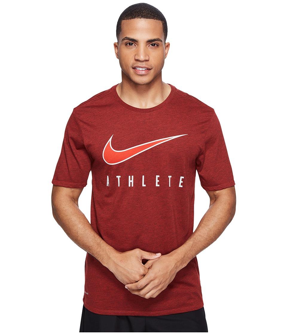 Nike - Dry Athlete Training T-Shirt (Max Orange/Black/White) Men's T Shirt