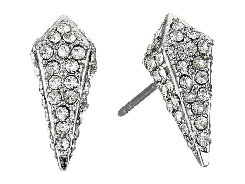 Rebecca Minkoff - Pave Spike Stud Earrings (Rhodium/Crystal) Earring