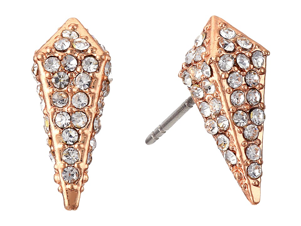 Rebecca Minkoff - Pave Spike Stud Earrings (Rose Gold/Crystal) Earring