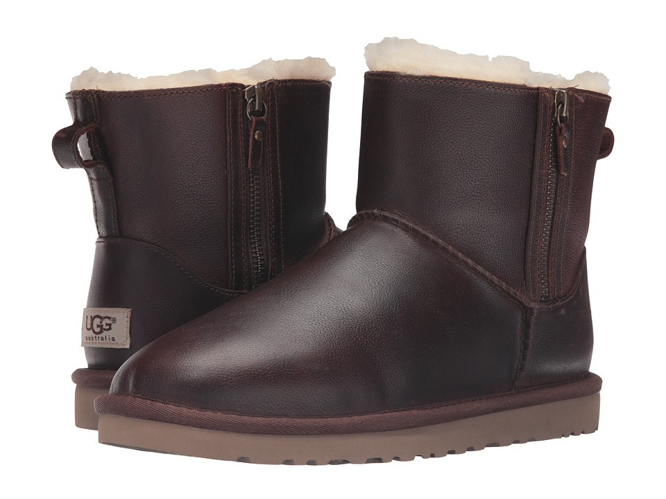 UGG - Classic Mini Double Zip (Chestnut) Women's Boots