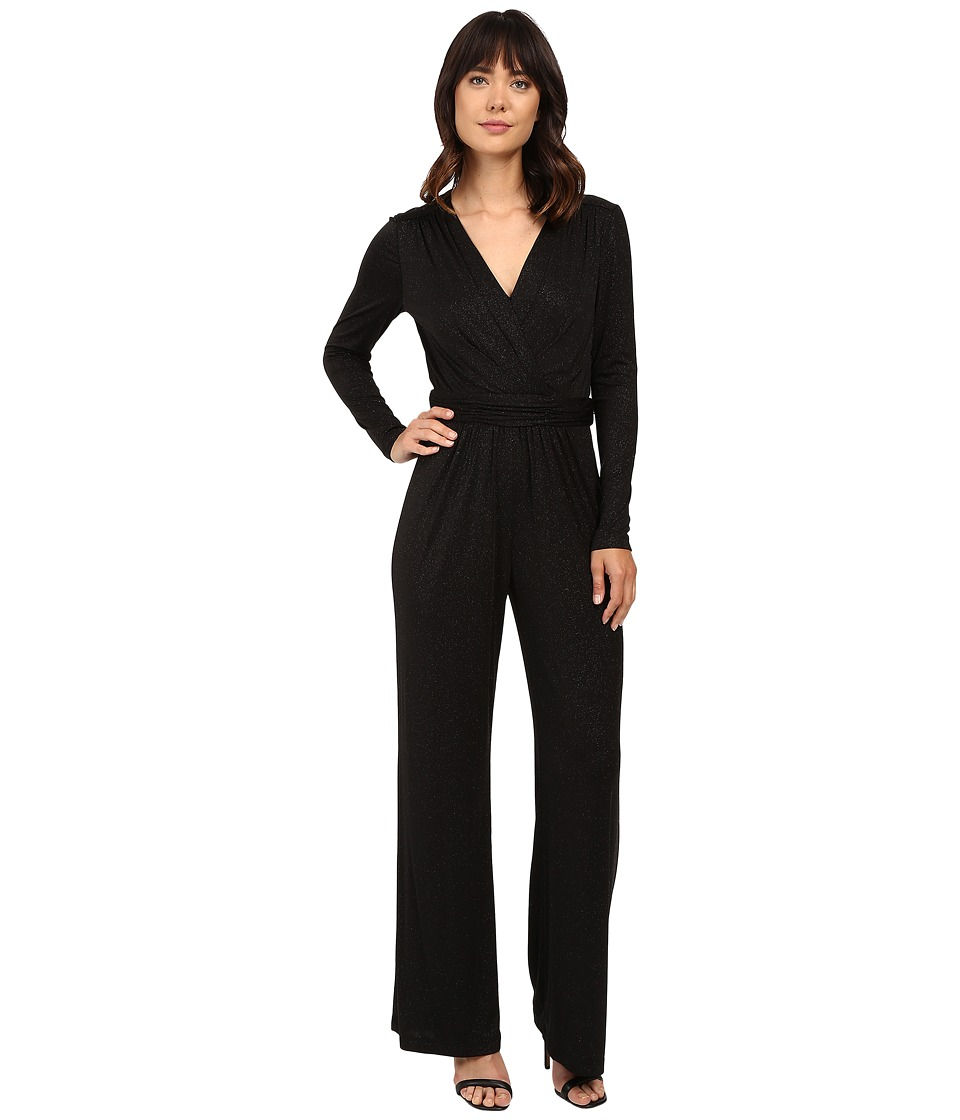 Tahari by ASL - Sparkle Sleeved Jumpsuit with Stretch (Black) Women's Jumpsuit & Rompers One Piece