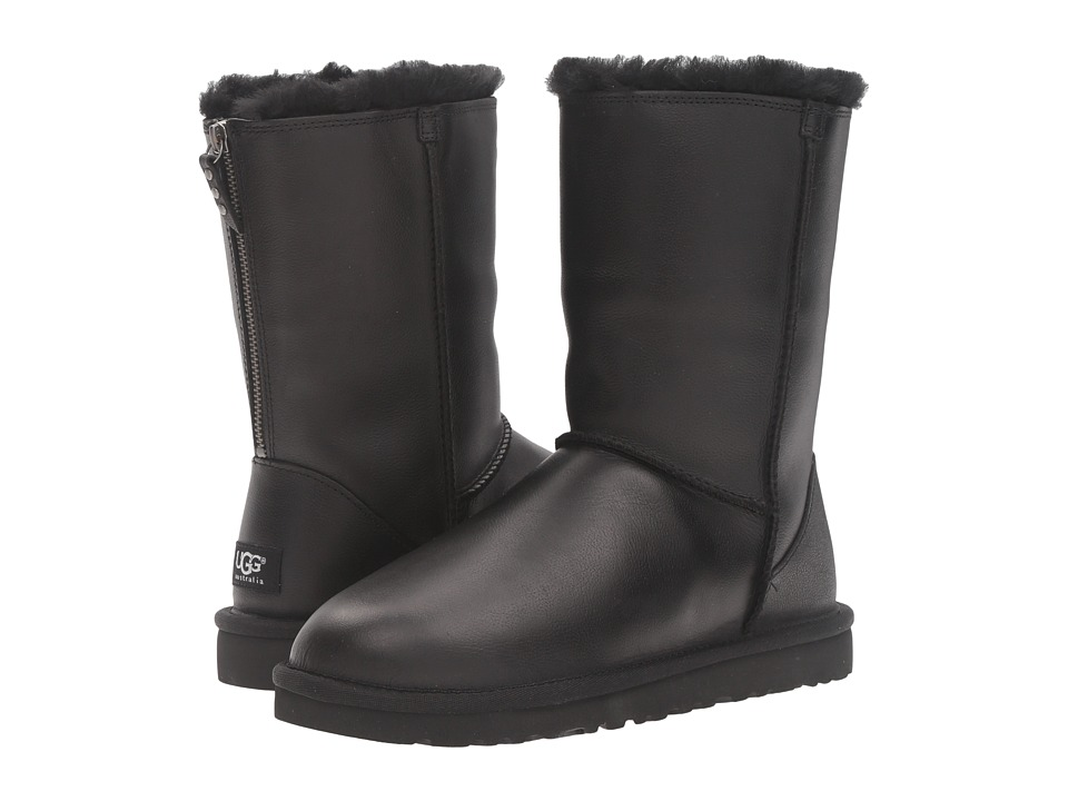 UGG - Classic Short Zip (Black) Women's Boots