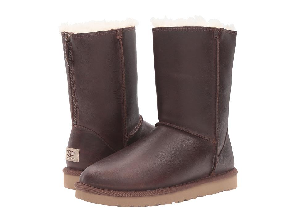 UGG - Classic Short Zip (Chestnut) Women's Boots