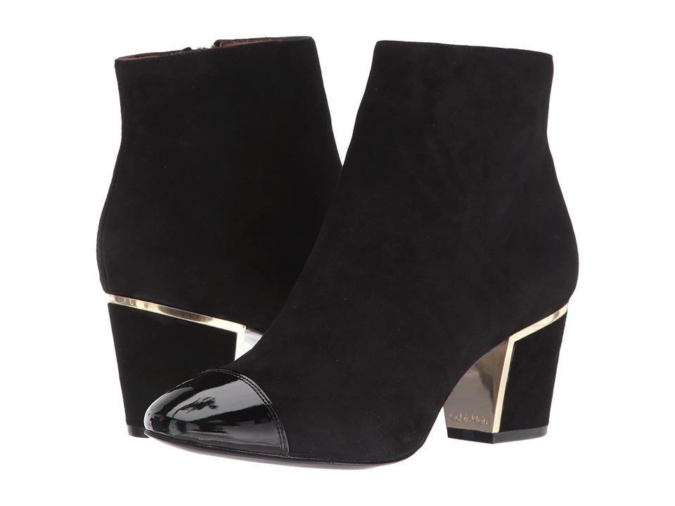 Calvin Klein - Kristi (Black Suede/Patent) Women